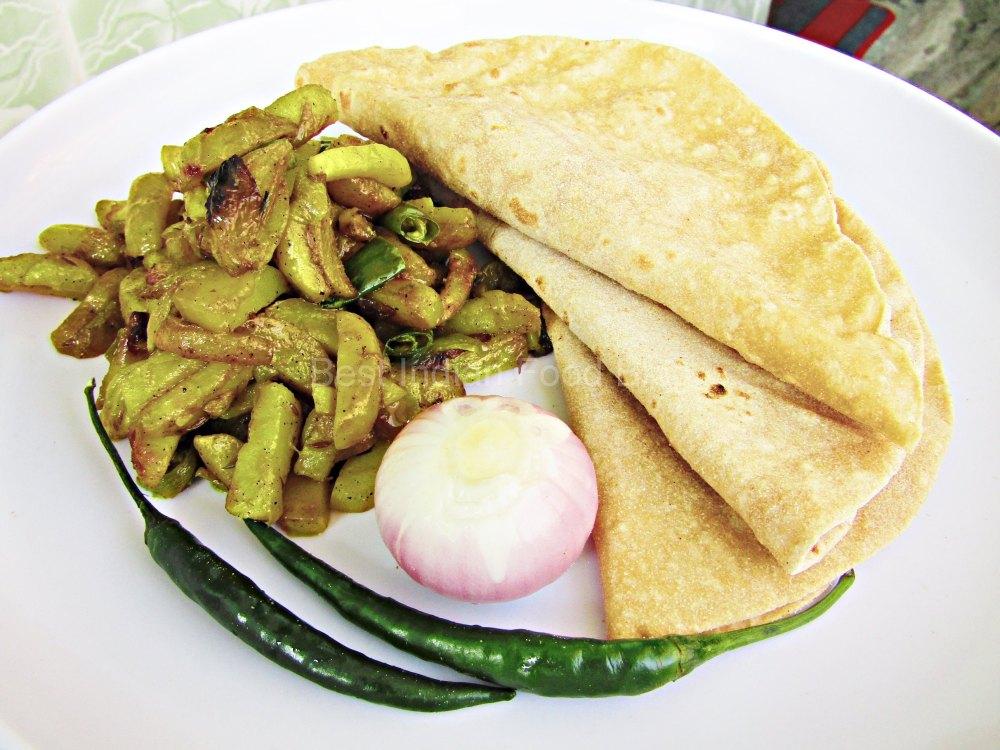 Aloo Bhujia Roti