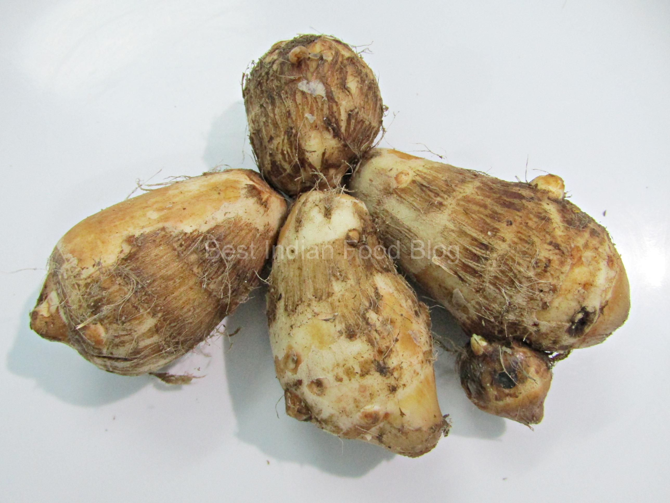 Taro corms