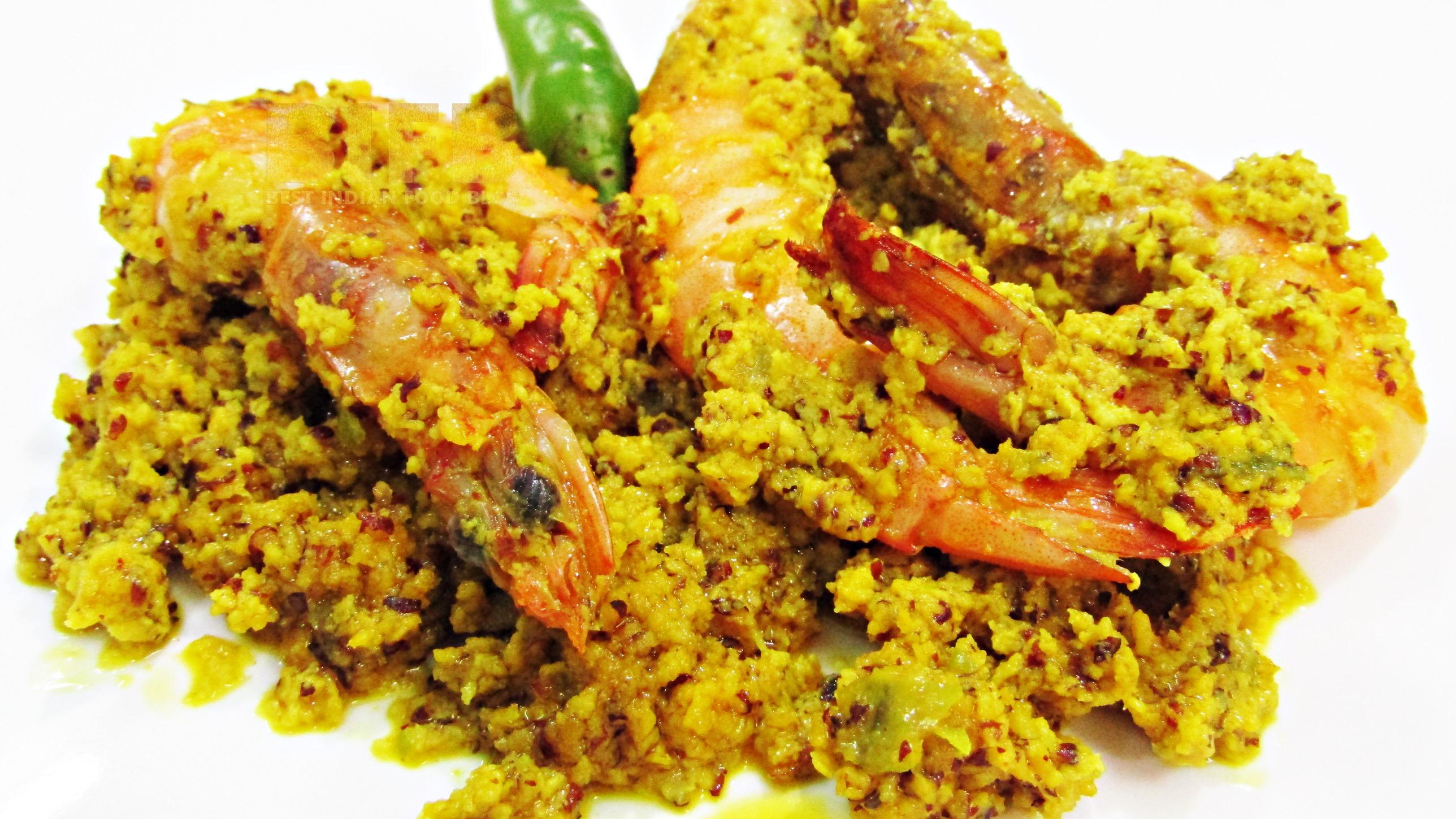 Chingri Bhapa from West Bengal, India | Best Indian Food Blog | Shrimp recipe