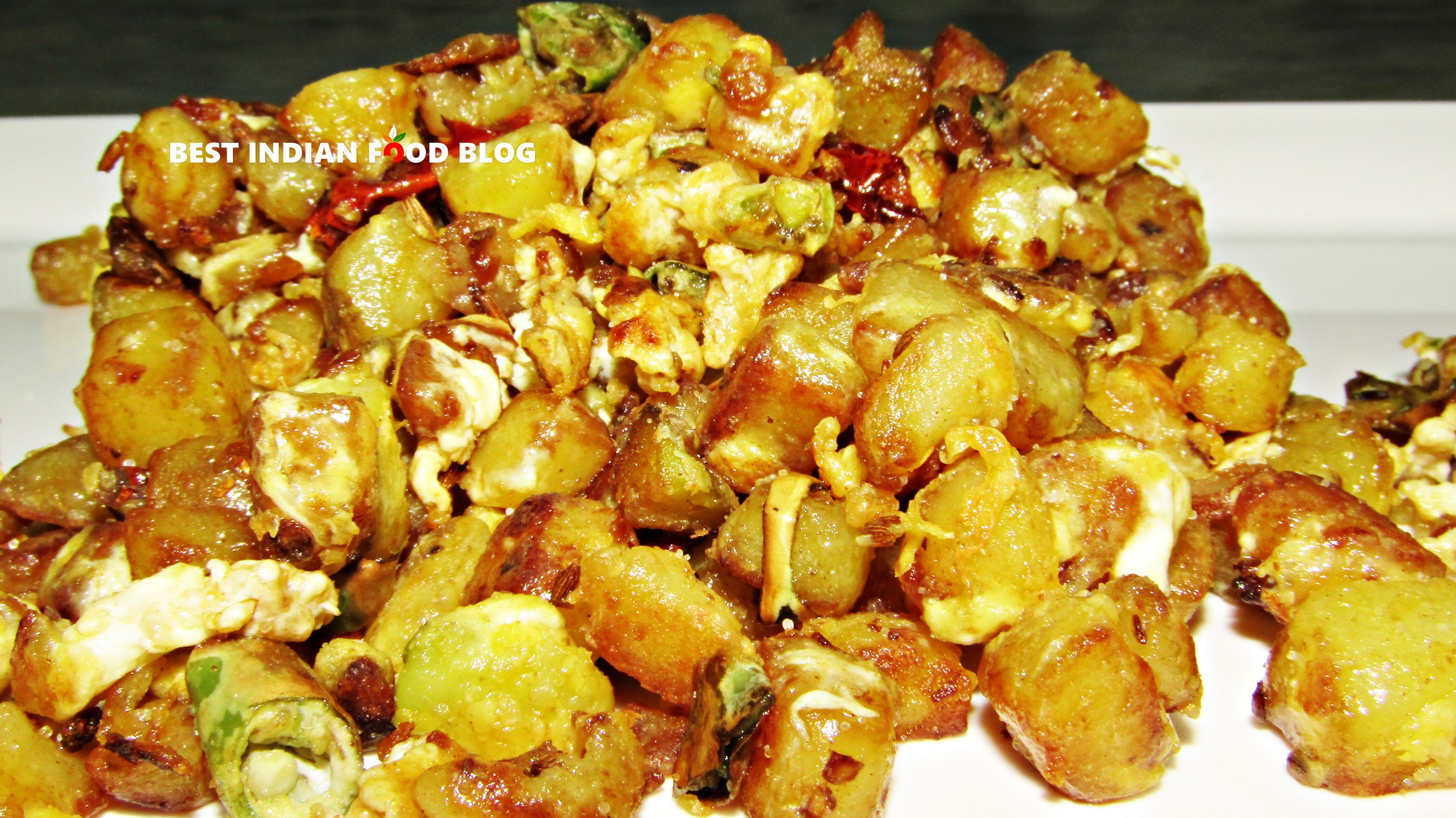Anda Bhurji from Bihar, India | Best Indian Food Blog | Egg Potato recipe