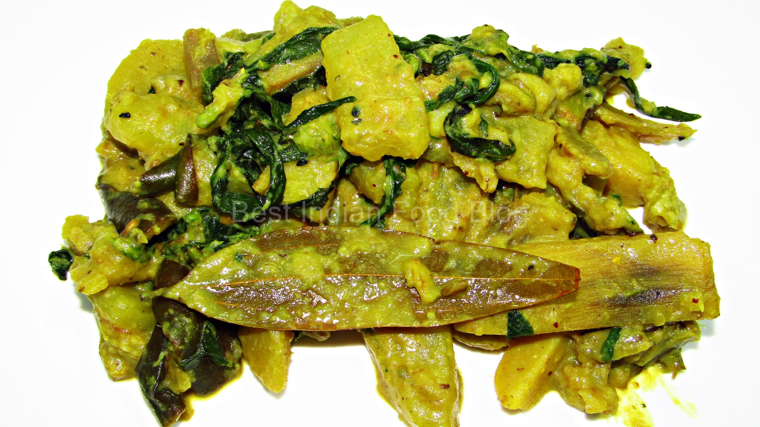 Kulekhara Suktoni from West Bengal, India   Best Indian Food Blog   Indian Swampweed recipe