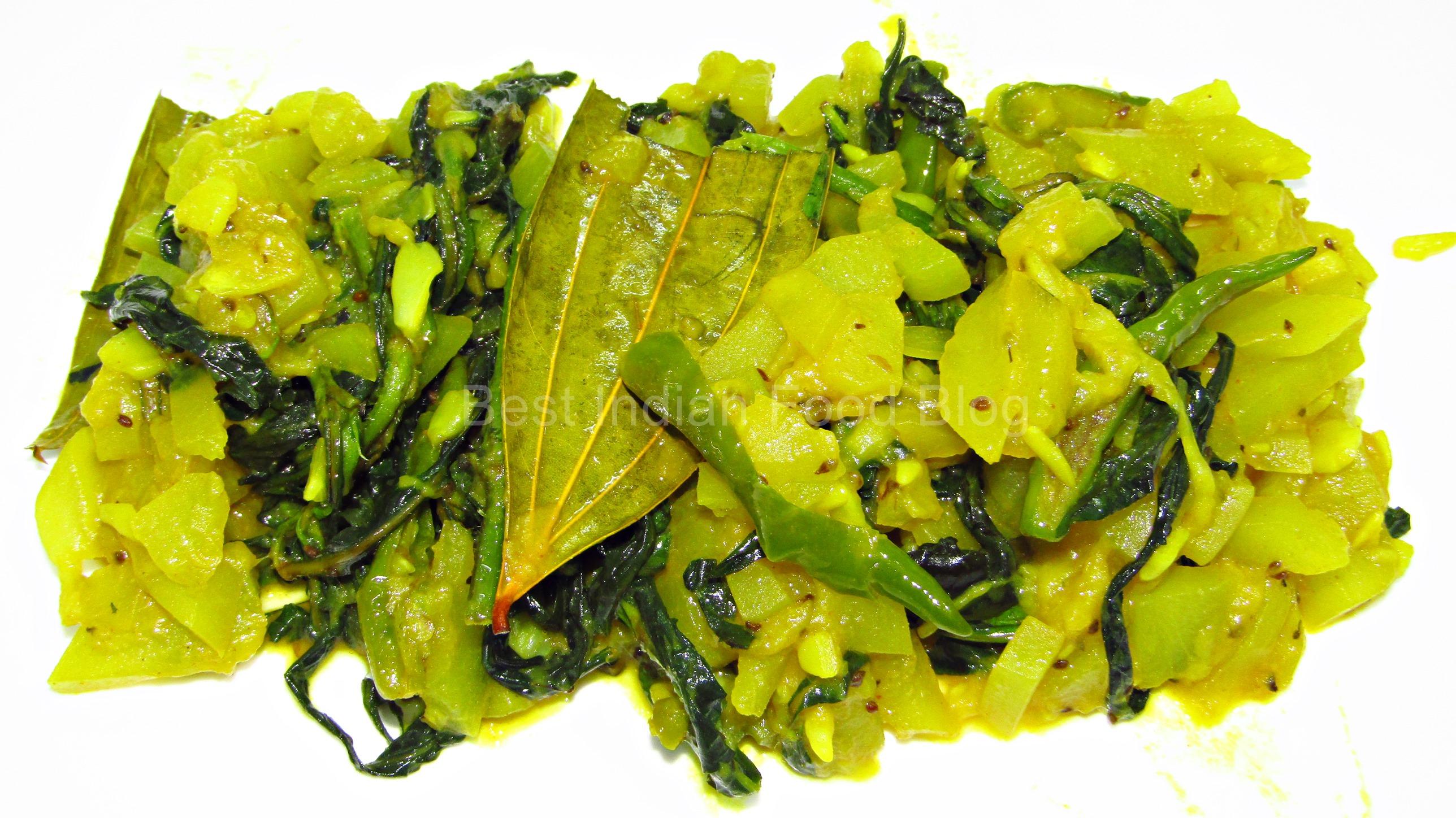 Kulekhara Lau from West Bengal, India   Best Indian Food Blog   Indian Swampweed Calabash recipe