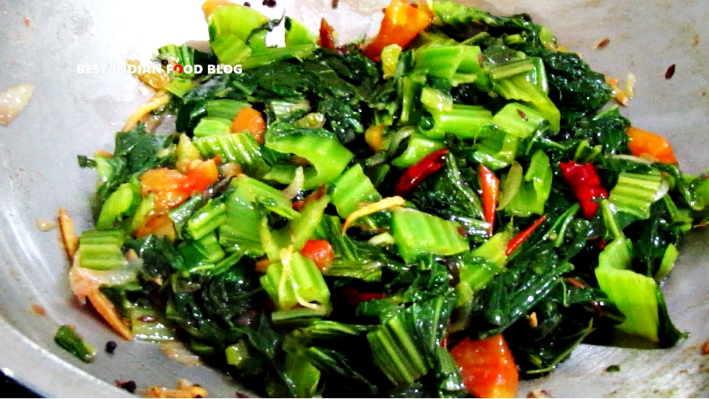 Rayo Ko Saag from Sikkim, India | Best Indian Food Blog | Mustard greens recipe