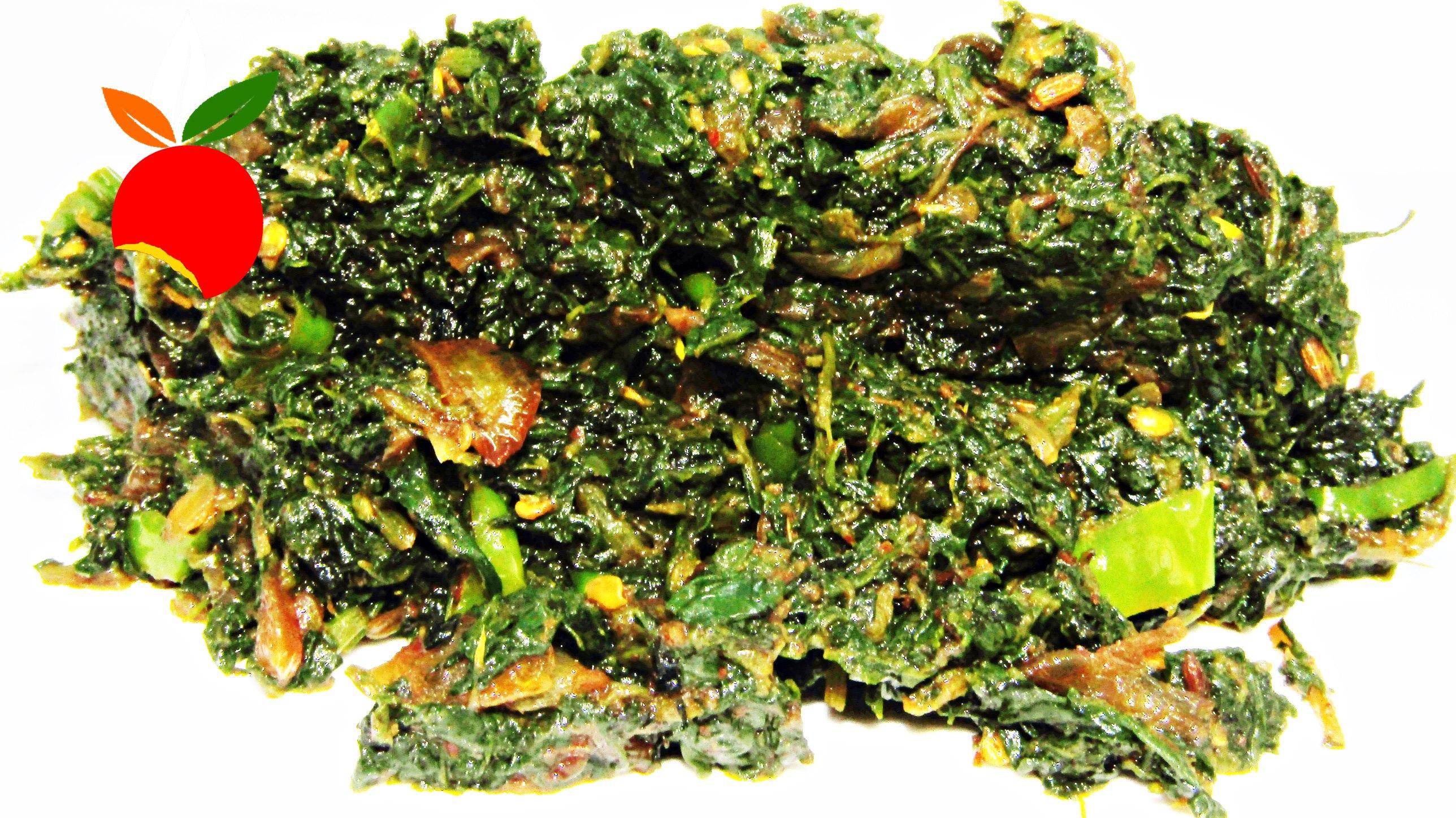 Bathua Bhujia from Bihar, India | Best Indian Food Blog | Chenopodium Album recipe