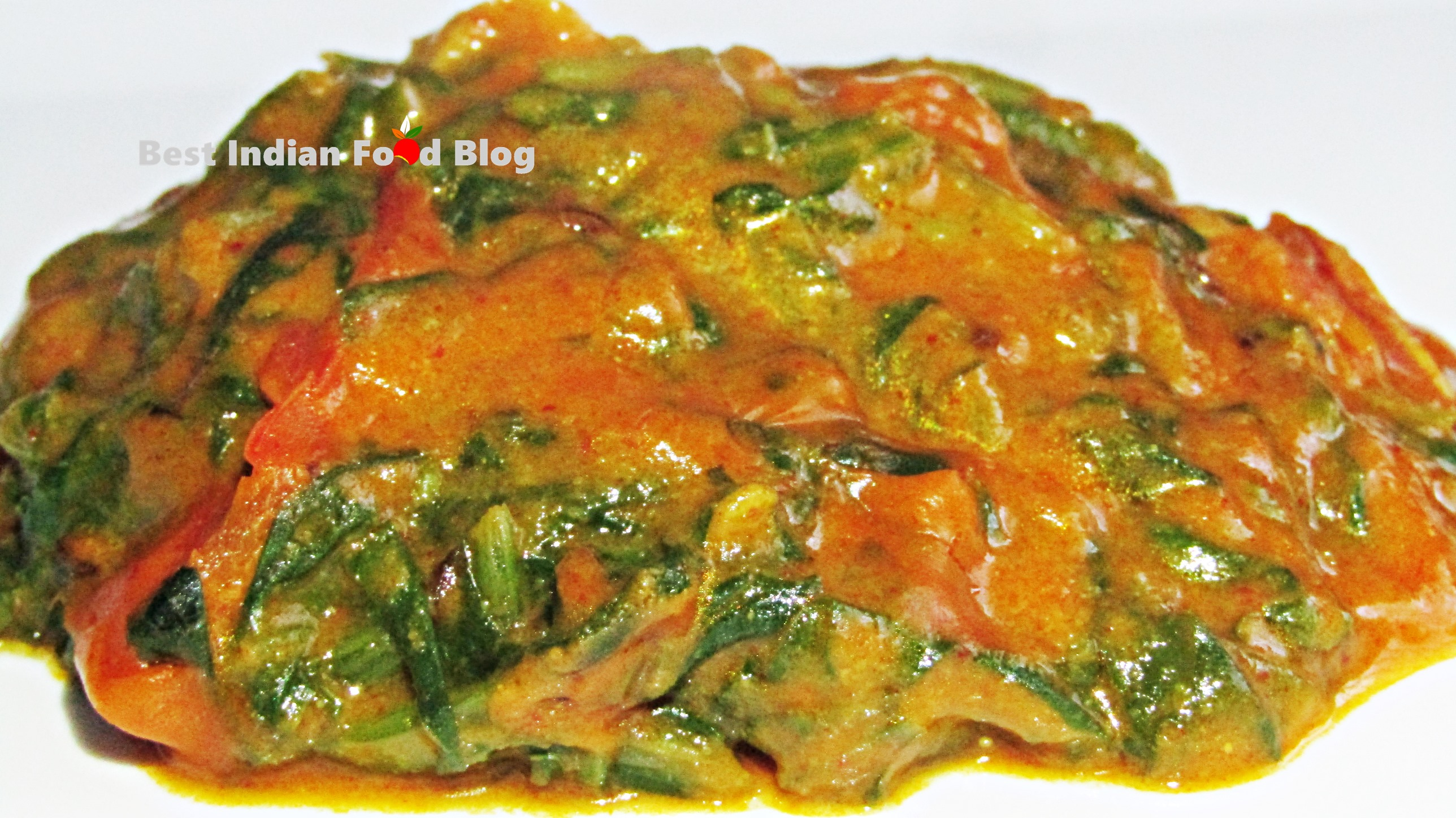 Palak nu Shaak from Gujarat, India   Best Indian Food Blog   Spinach recipe