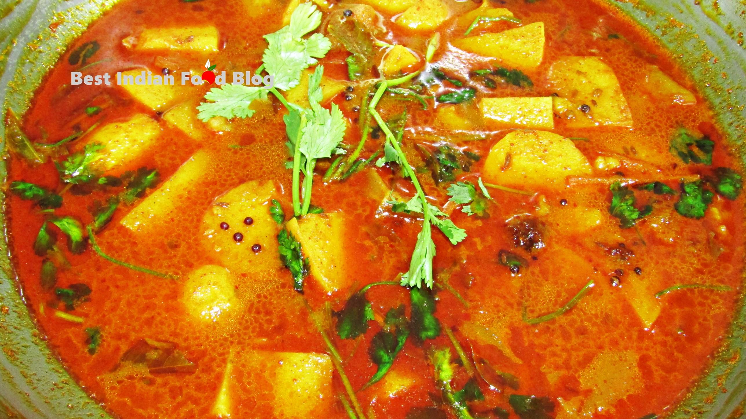 Bateta nu Shaak from Gujarat, India | Best Indian Food Blog | Potato recipe