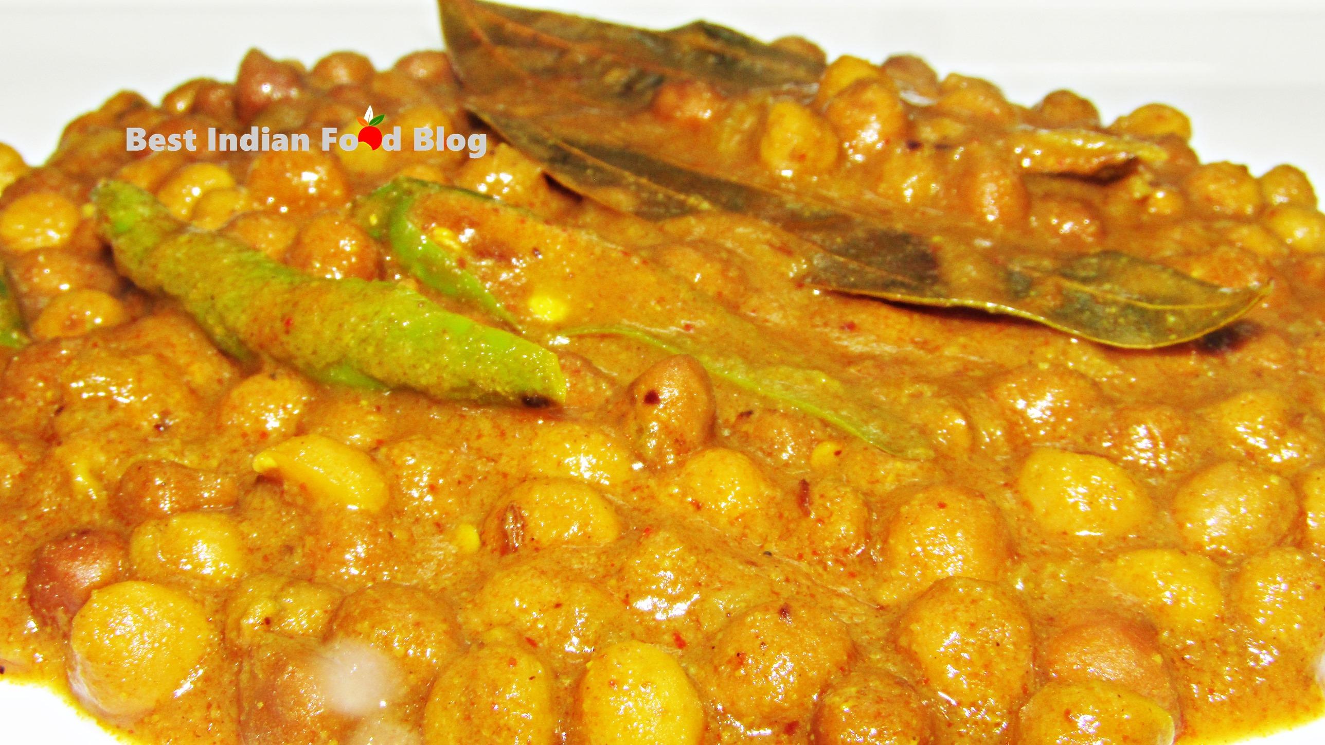 Kala Chana Khatta from Himachal Pradesh, India | Best Indian Food Blog | Chickpea recipe