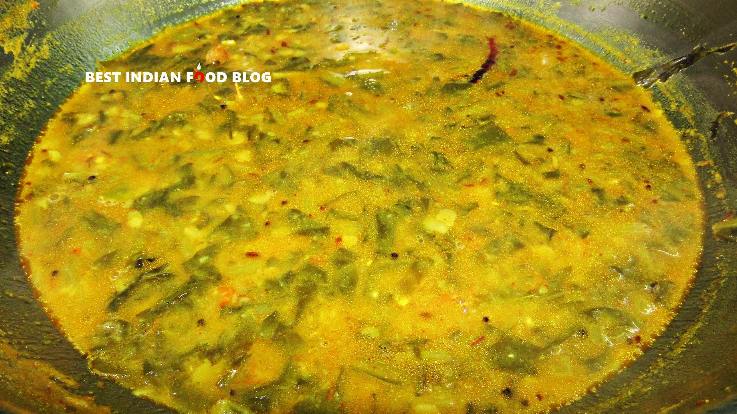 Palakura Pappu from Andhra Pradesh, India | Best Indian Food Blog | Spinach Pigeon Peas recipe