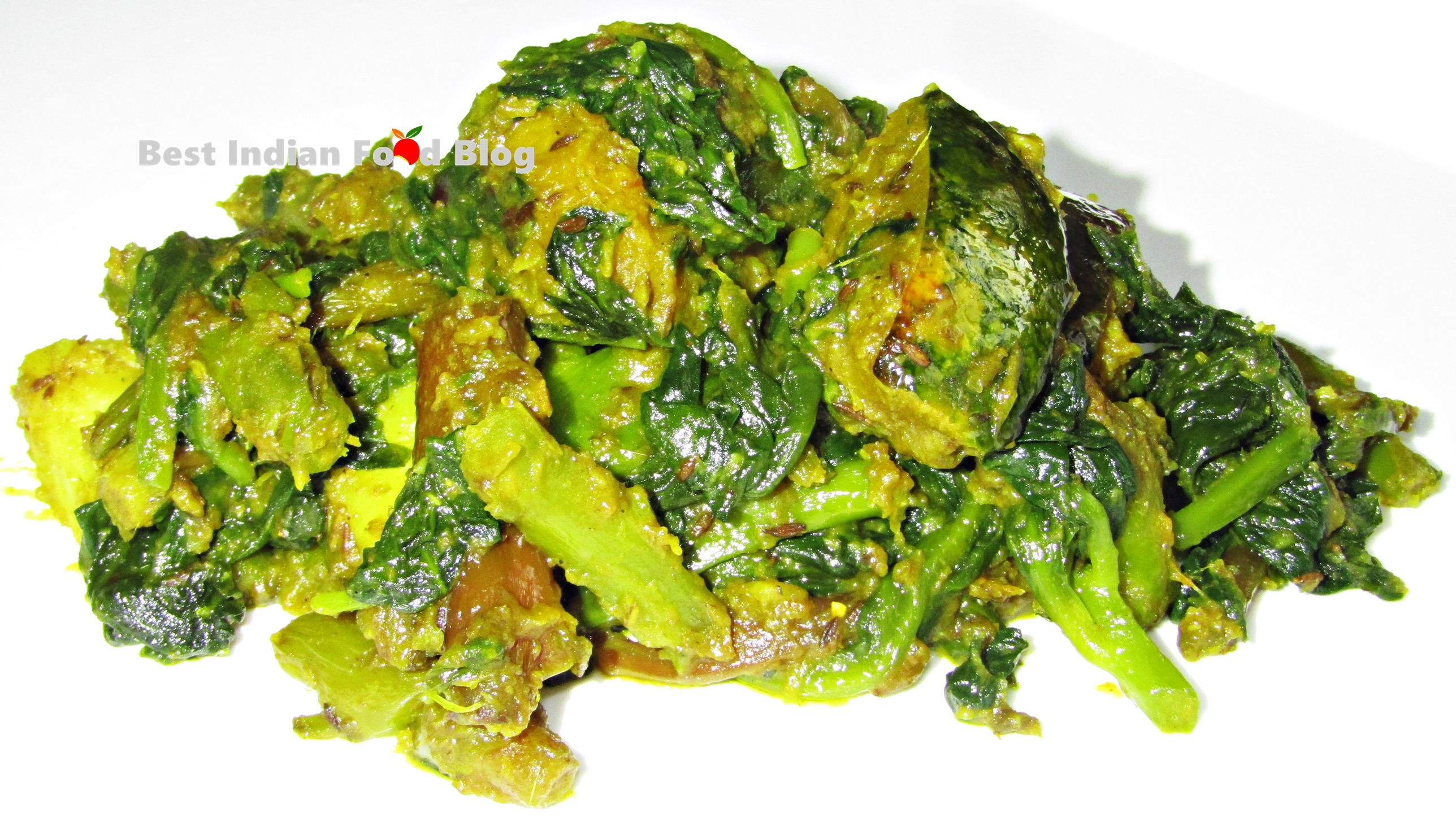 Pui Saag Ghanto from West Bengal, India | Best Indian Food Blog