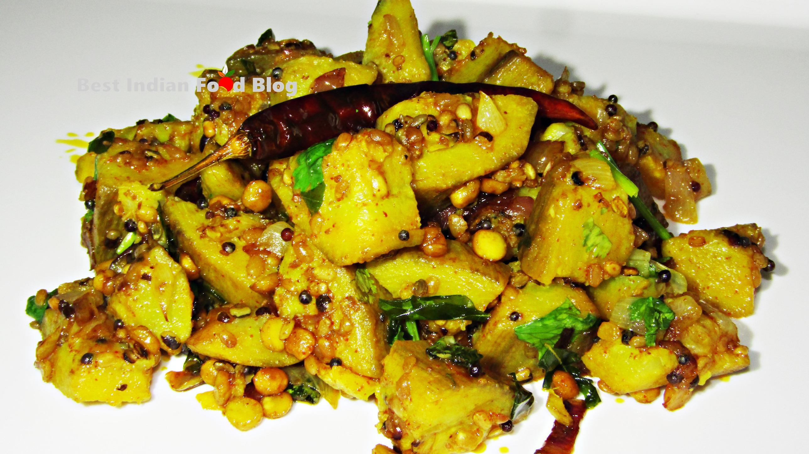 Vazhakkai Poriyal from Karnataka, India | Best Indian Food Blog