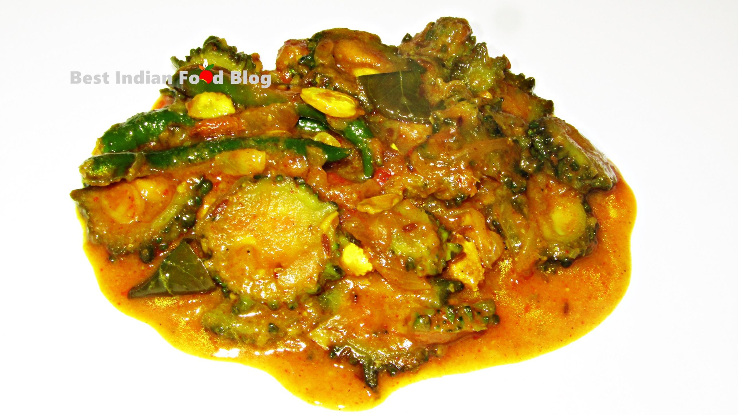 Kakarakaya Pulusu from Telangana, India | Best Indian Food Blog | Bitter melon recipe