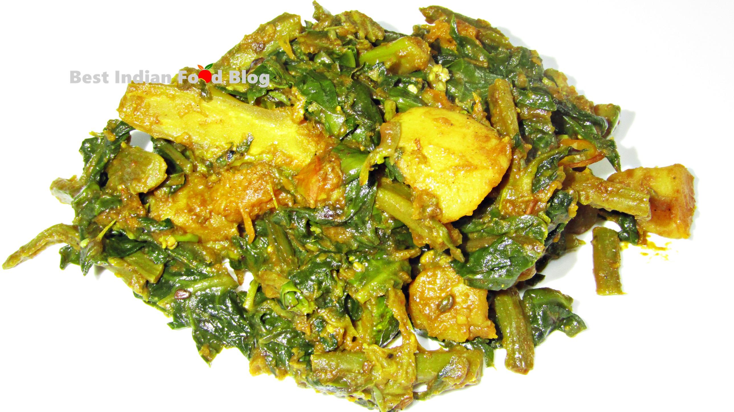 Poi Saga Tarkari from Odisha, India | Best Indian Food Blog