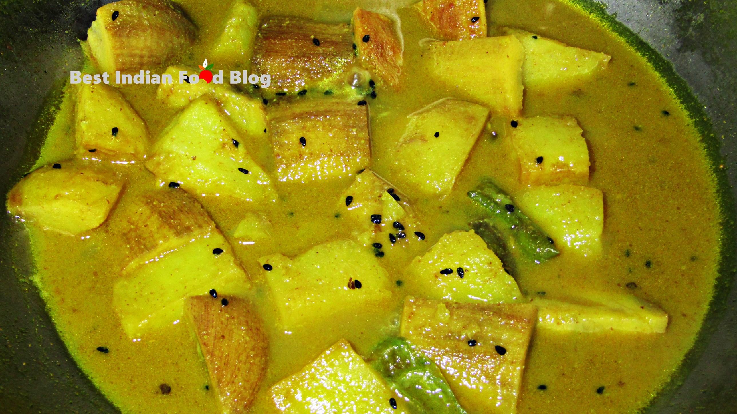 Kachkola Alur Jhol from West Bengal, India   Best Indian Food Blog