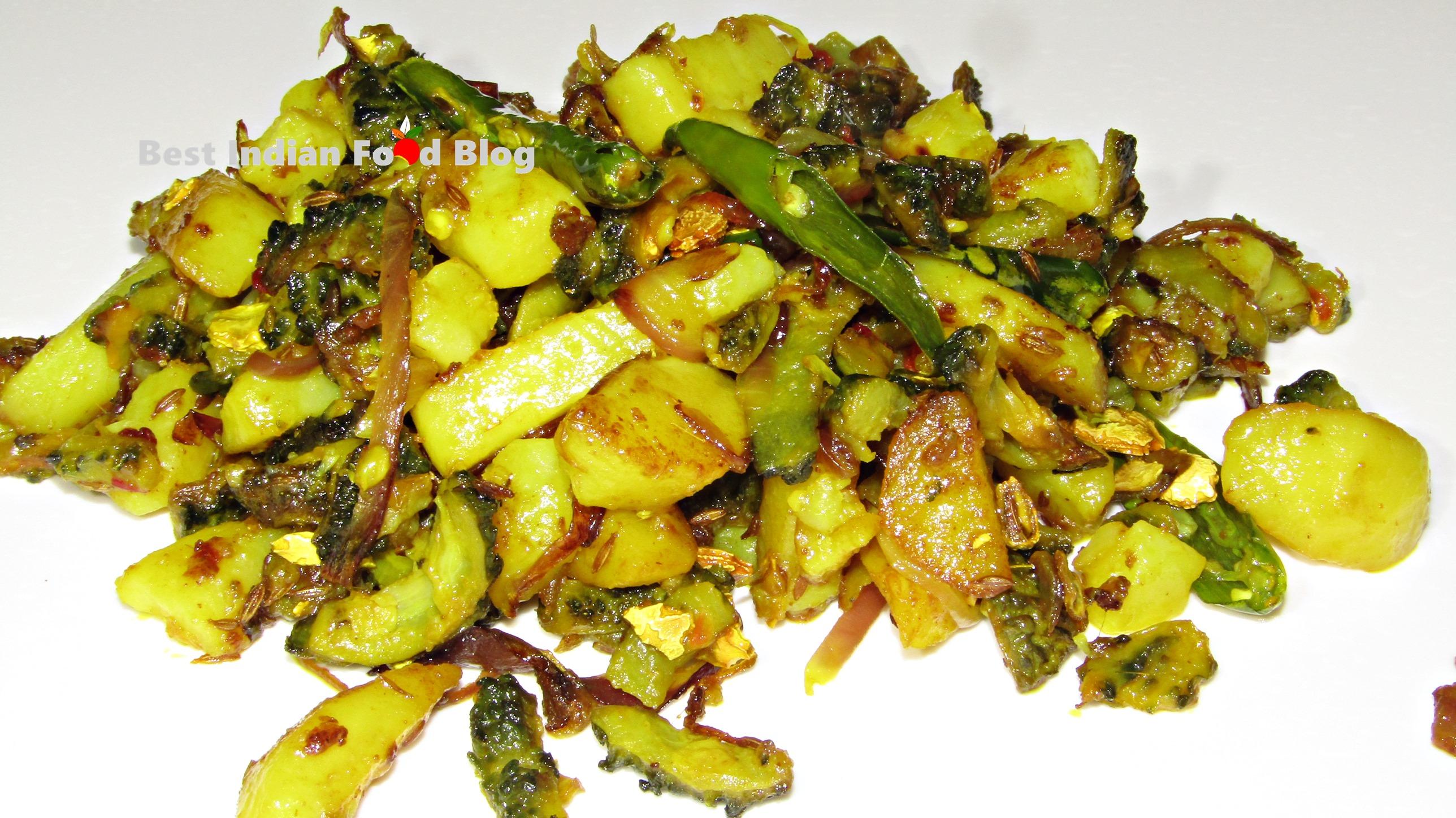 Karela Aloo Bhujia from Bihar, India   Best Indian Food Blog