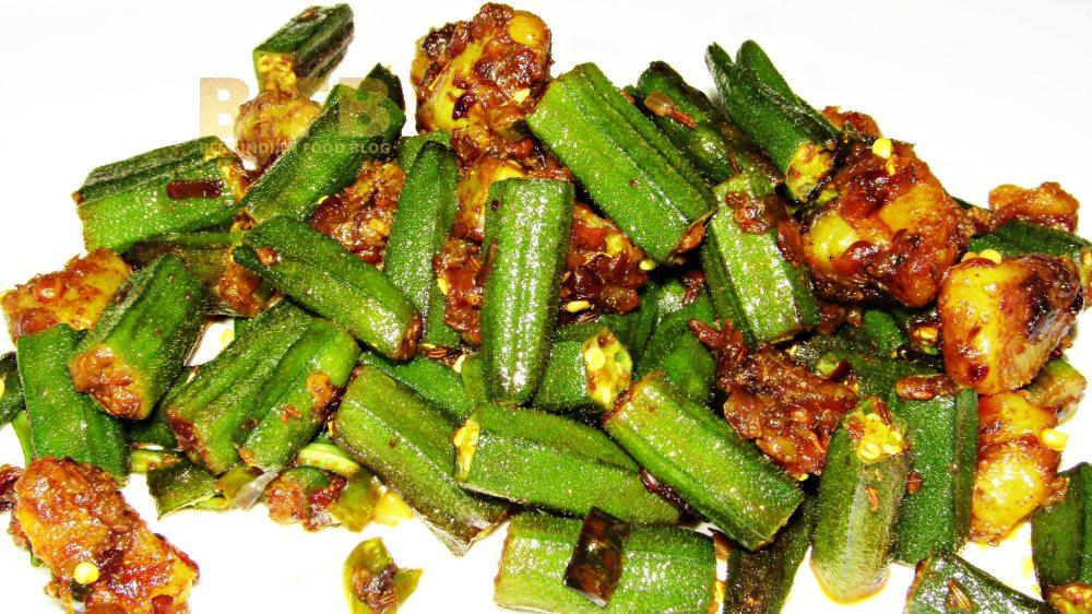 Bhendi Batata Bhaji from Maharashtra, India   Best Indian Food Blog