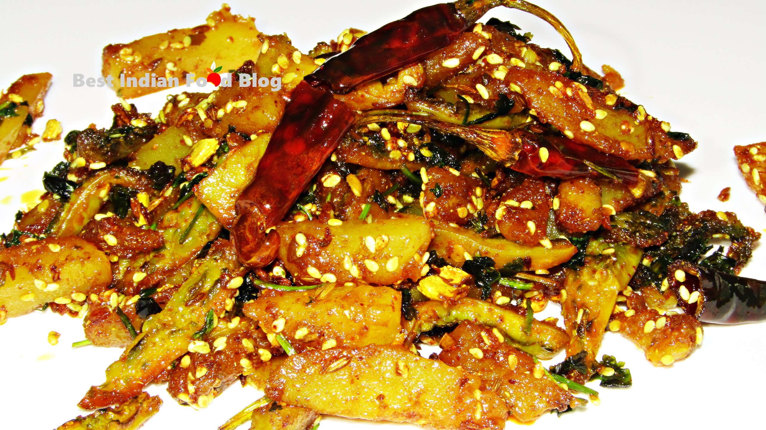 Karela Batata nu Shaak from Gujarat, India | Best Indian Food Blog