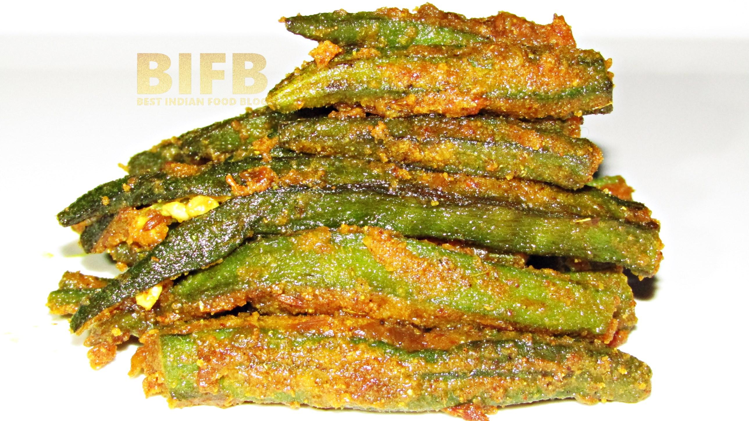 Besan Bhindi from Rajasthan, India | Best Indian Food Blog