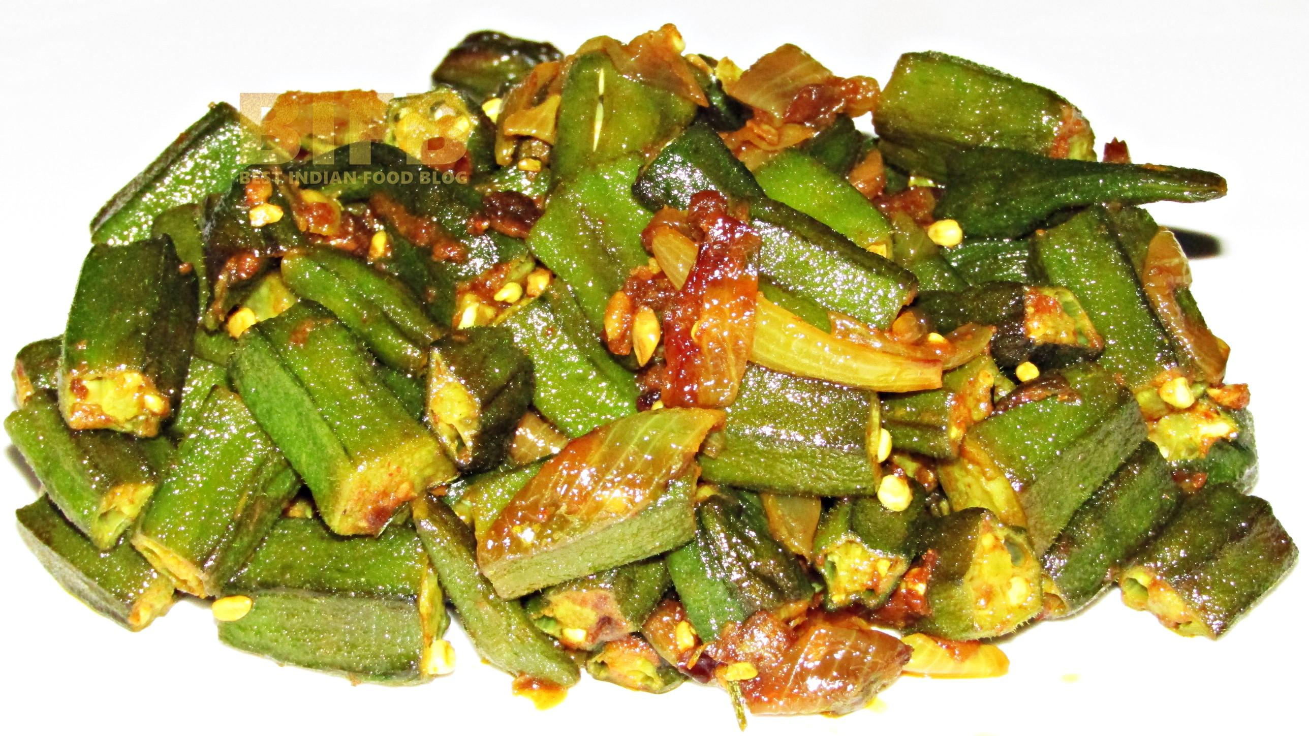 Pyaaz Wali Bhindi from Uttar Pradesh, India | Best Indian Food Blog