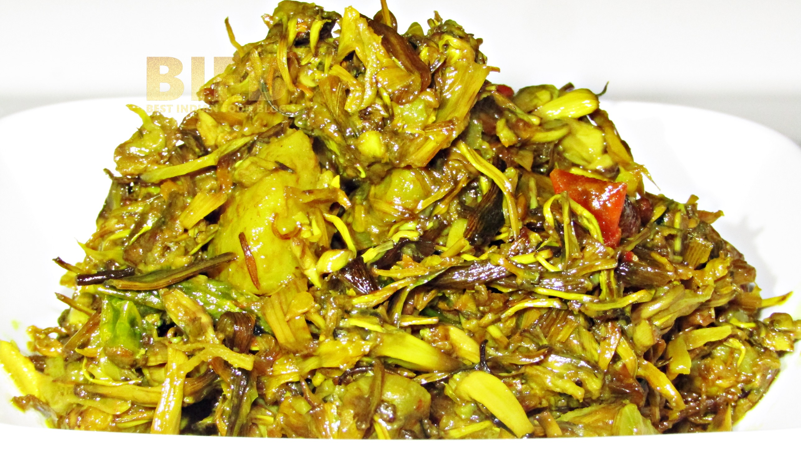 Koldil Bhaji from Assam, India | Best Indian Food Blog | Plantain Flower recipe