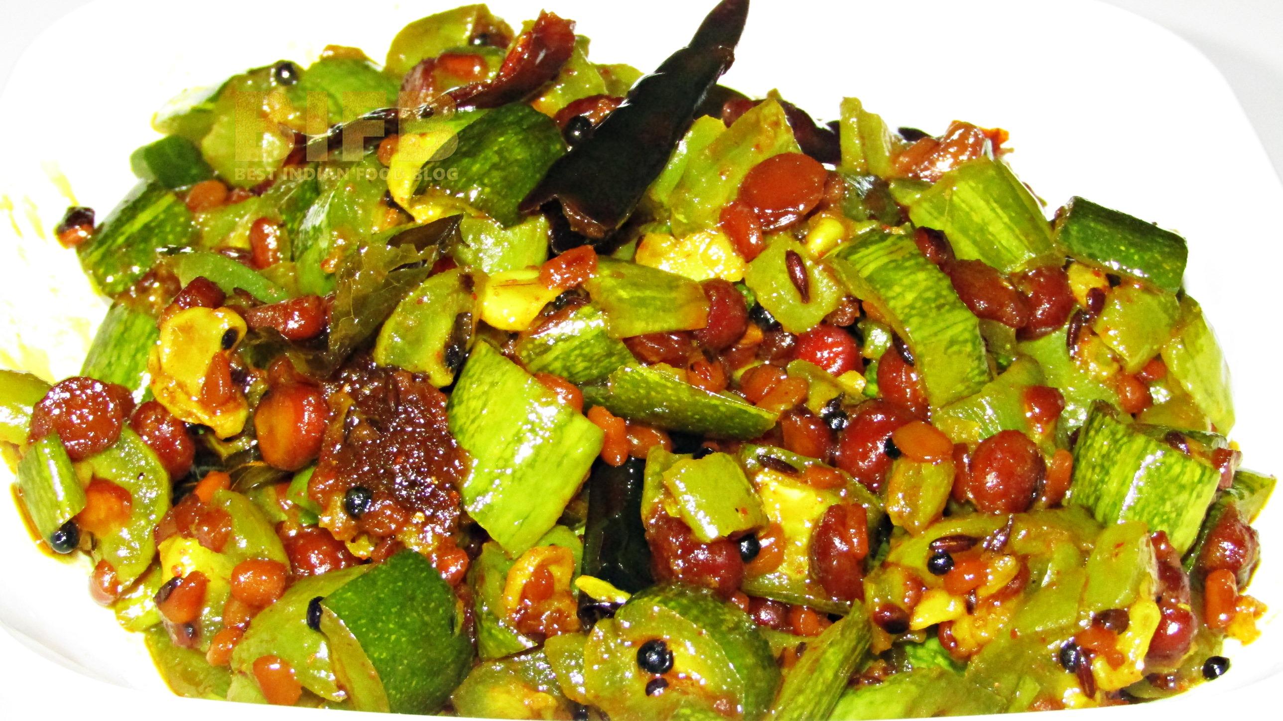 Pudalangai Poriyal from Tamil Nadu, India | Best Indian Food Blog | Snake Gourd recipe