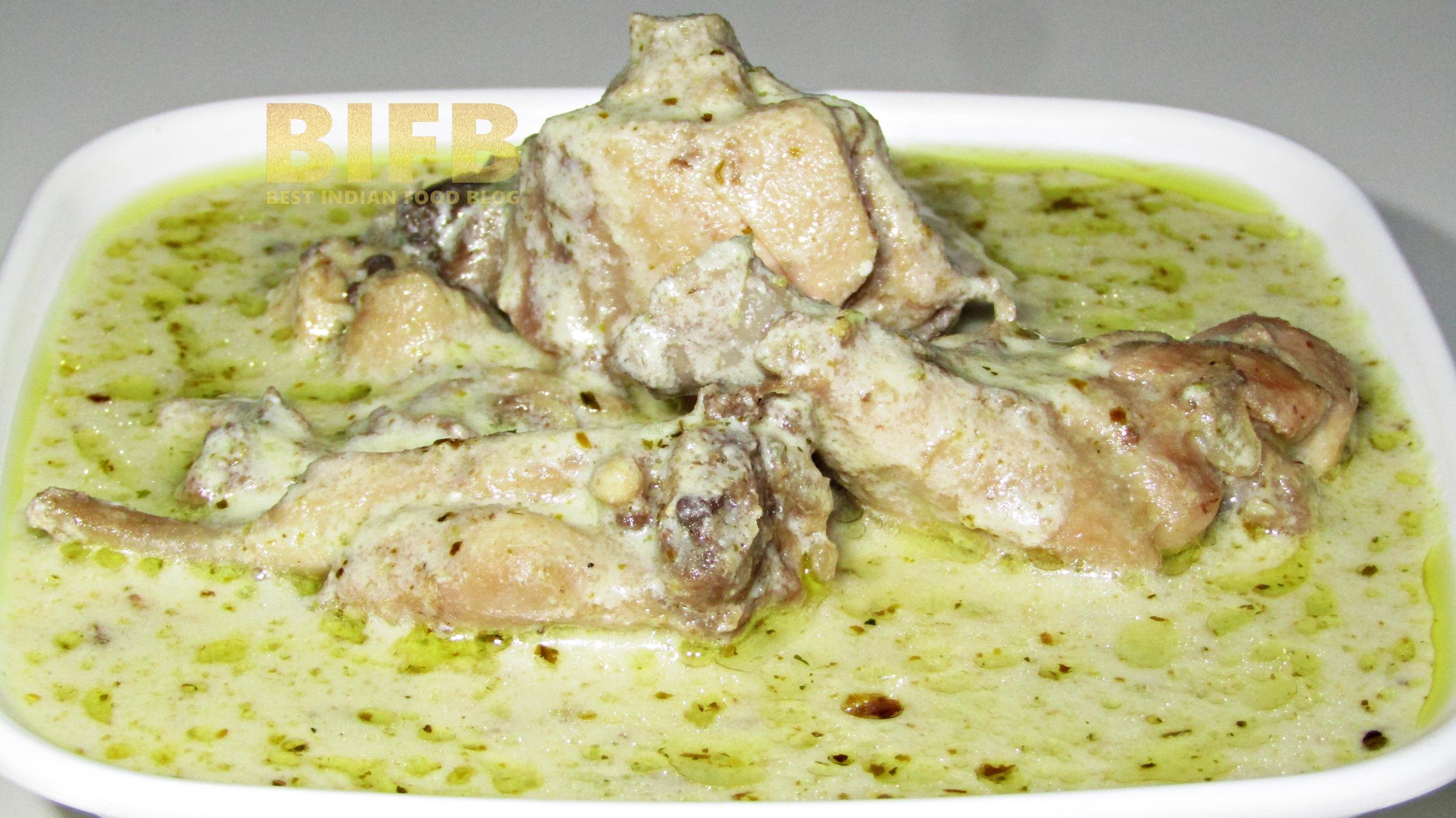 Kokur Yakhni from Jammu and Kashmir, India | Best Indian Food Blog | Chicken Yogurt recipe