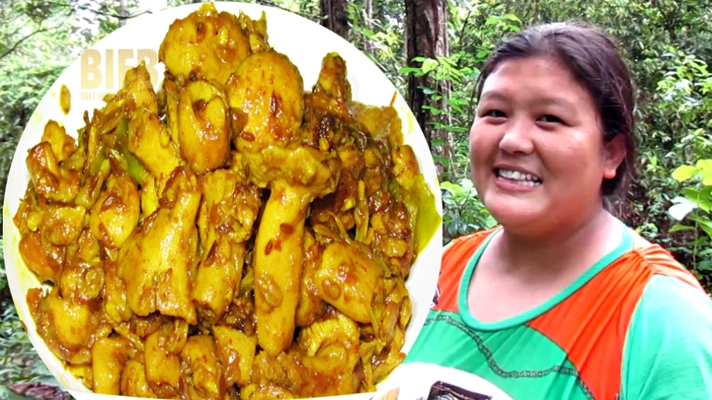 Cyau ko Tarkari from Sikkim, India | Best Indian Food Blog | Mushroom recipe
