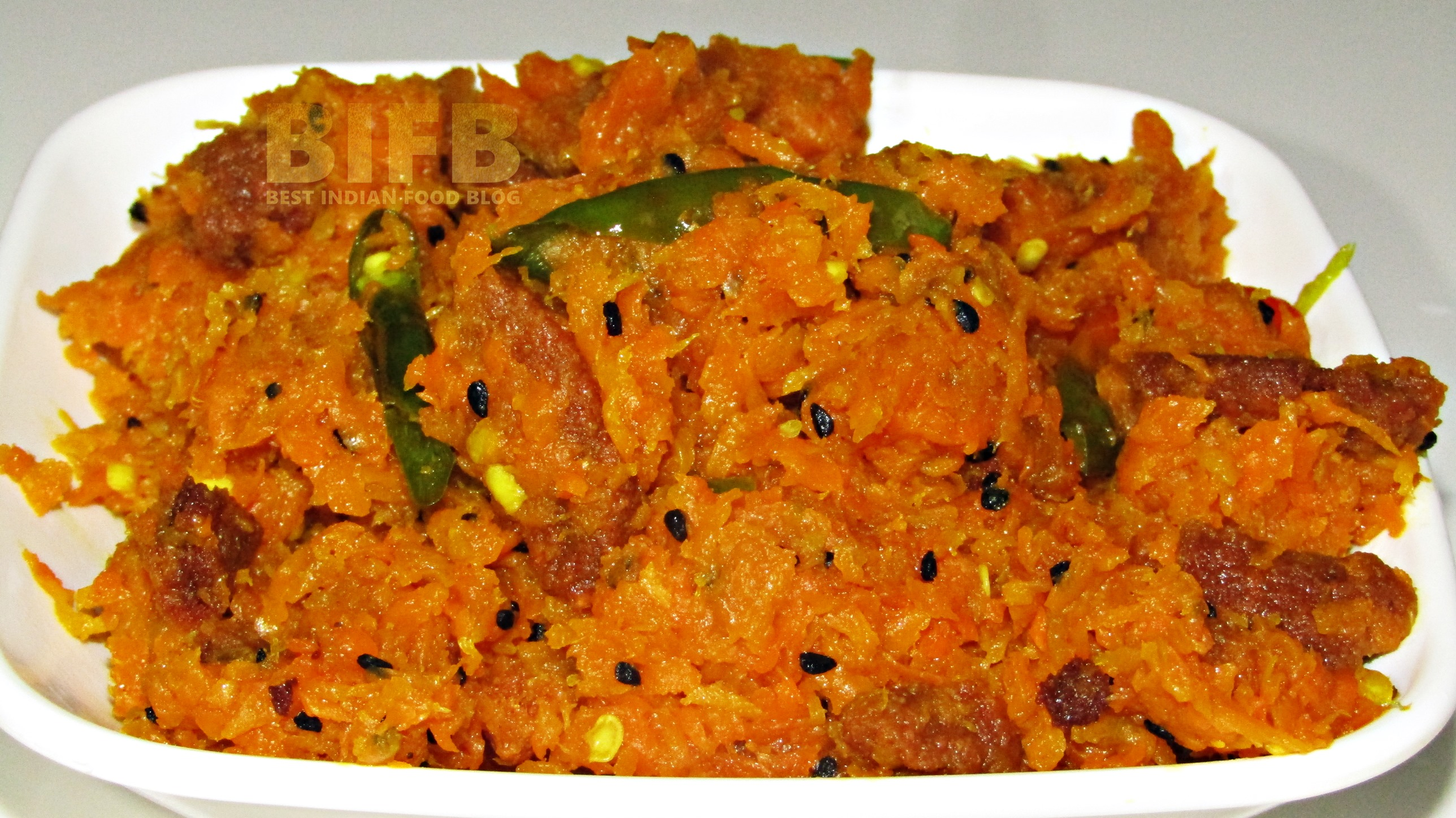 Gajorer Chechki from West Bengal, India   Best Indian Food Blog   Carrot recipe