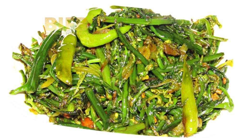 Niyuro ko Tarkari from Sikkim, India   Best Indian Food Blog   Fiddlehead Fern recipe