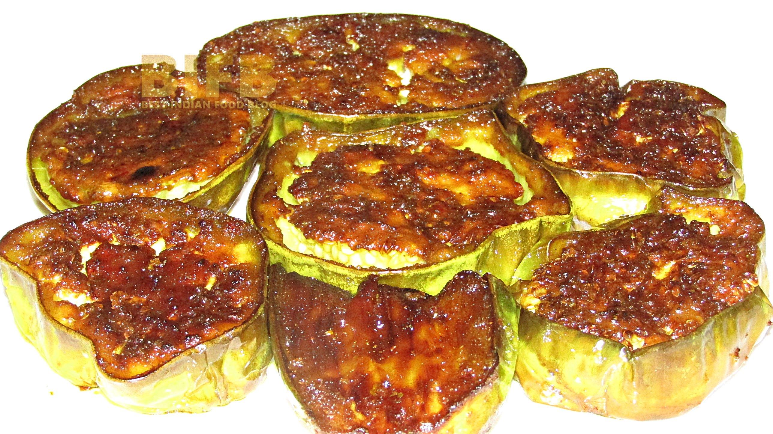 Bengena Bhaji from Assam, India   Best Indian Food Blog   Aubergine recipe